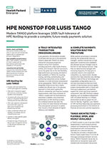 HPE Nonstop for Lusis Tango